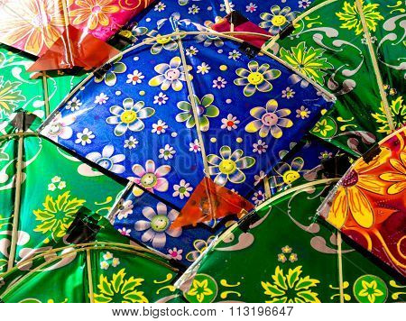 Background of colorful indian kites