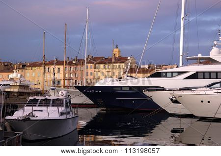 Sunset at Saint Tropez, French Riviera, France