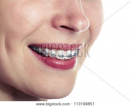 Beautiful smiling girl.