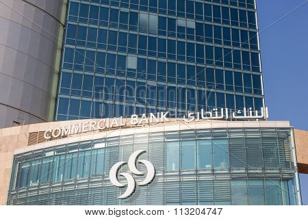 Commercial Bank Of Qatar Building In Doha