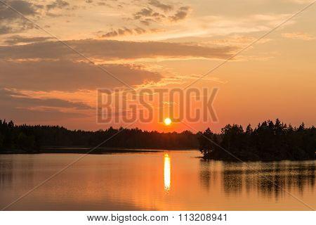 The Sun At Sunset