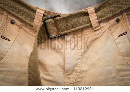 Brown Jeans With Gun Belt