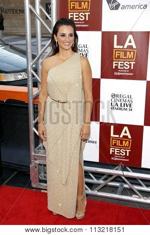 Penelope Cruz at the 2012 Los Angeles Film Festival premiere of