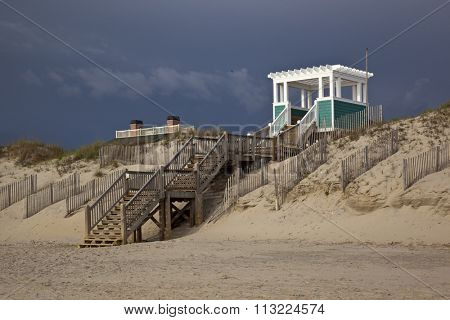 Public Boardwalk to the beach in Corolla on the Outer Banks