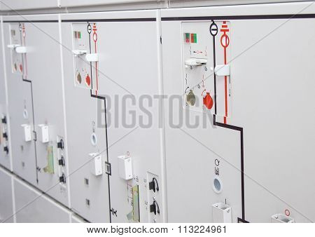 Electrical White Control Panel Photo Image