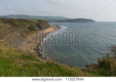English Jurassic coast Dorset Kimmeridge Bay east of Lulworth Cove