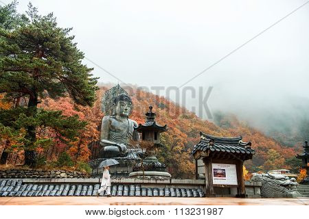 Big Buddha Monument of Sinheungsa Temple in South Korea