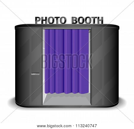 Black photo booth vending machine. Vector illustration