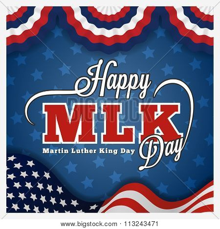 Martin Luther King Day Greeting Card And Lettering
