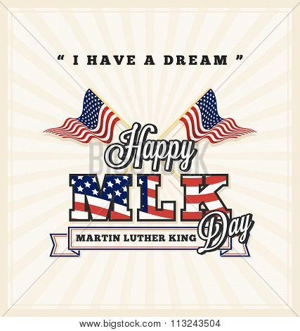 Martin Luther King Day Greeting Card