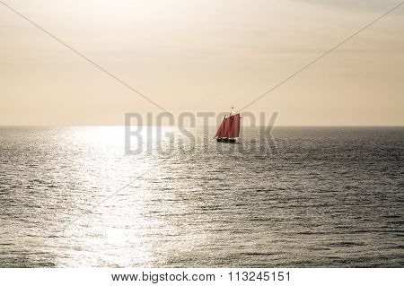 Red Sails At Sunset