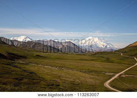 Denali Mountain Mckinley from visitor center alaska