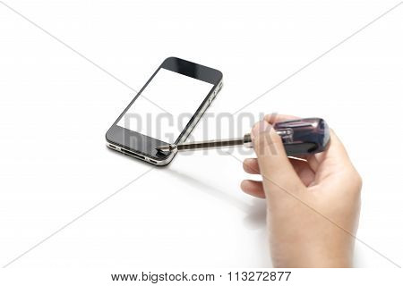 Smart Phone With Screwdriver