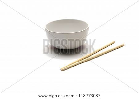 Empty Bowl And Chopstick