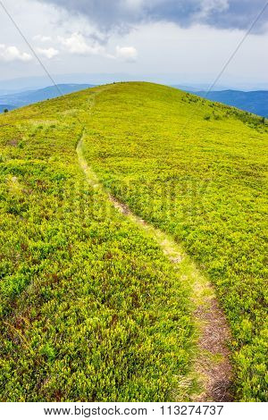 Mountain Path Uphill To The Sky