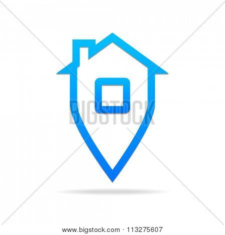 Home sign - logo template. Home Navigation. Home sweet home,  home sweet home sign,  sign, house sign,  home icon, home logo.