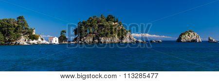 Panagias island in Parga Epirus Greece