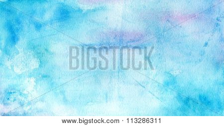 Abstract blue watercolour background