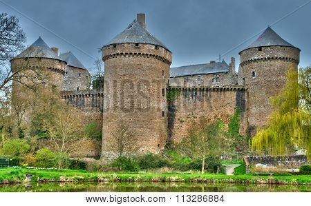 France, Picturesque Castle Of Lassay Les Chateaux