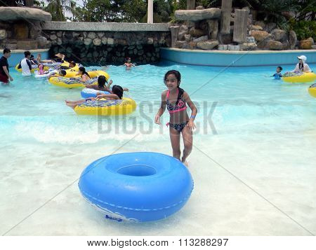 Tube Riding at the Imperial Palace in the Philippines