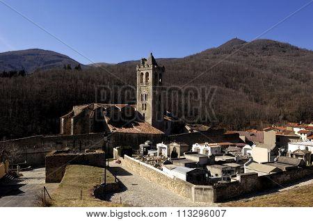 Justa And Rufina Church, Prats De Mollo, La Preste, Languedoc Roussillon, Pyrenees Orientales,france