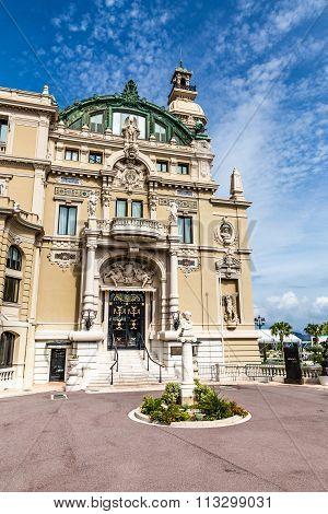 Side Entrance Of Casino In Monte Carlo-monaco