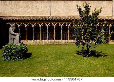 Cloister Of Convent ,san Francisco De Asis, Sangüesa, Navarra,spain,