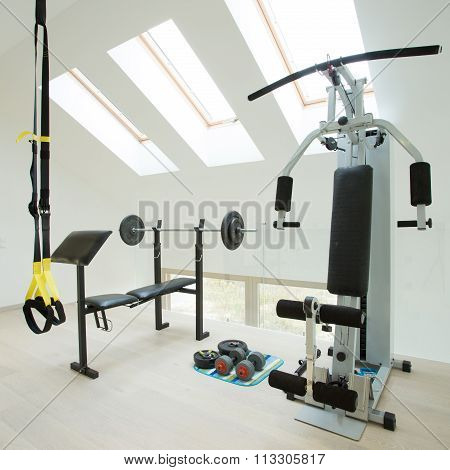 Gym in house