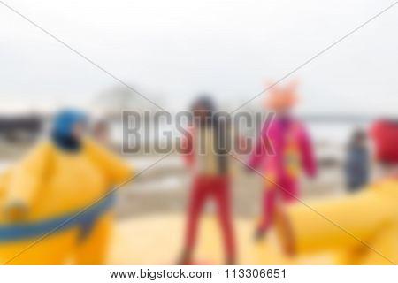 Mardi gras celebration theme blur background