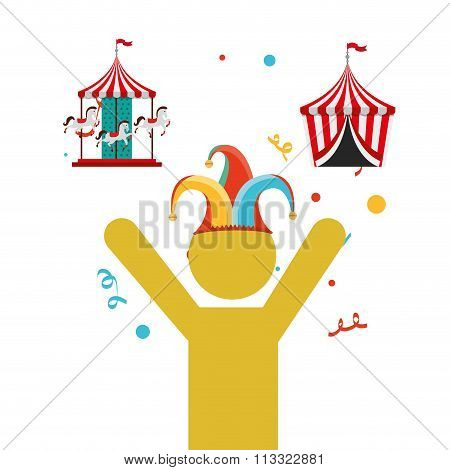 circus entertainment design, vector illustration eps10 graphic poster