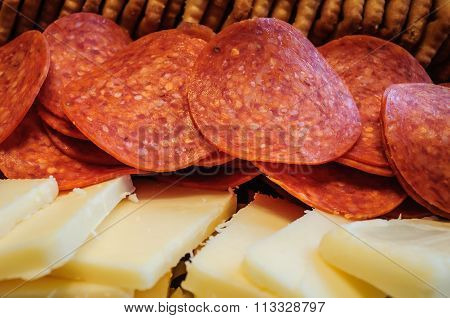 Crackers, Cheese and Pepperoni