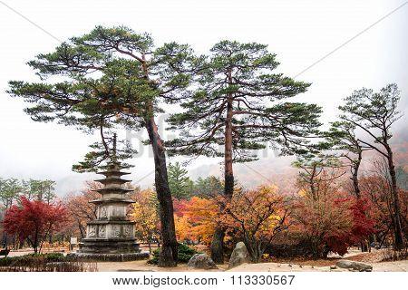 Pagoda Monument of Sinheungsa Temple in Seoraksan National Park
