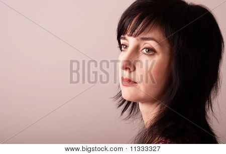 Portrait Of Beautiful Adult Woman