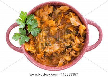 Nutritional Cabbage Soup With Ground Beef