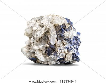 Galena metallic ore mineral sample a rare earth mineral of zinc and lead isolated on white with clipping path poster
