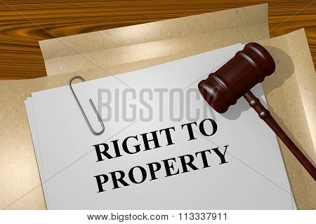 Right To Property Concept