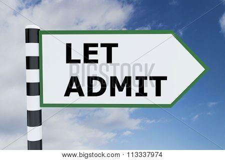 Let Admit Concept