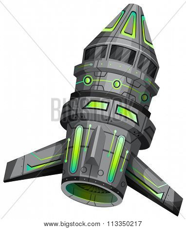 Spaceship with modern design illustration