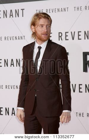 LOS ANGELES - DEC 16:  Domhnall Gleeson at the