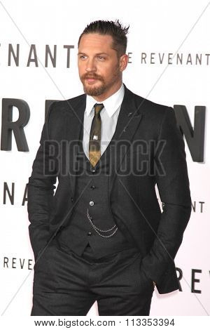 LOS ANGELES - DEC 16:  Tom Hardy at the