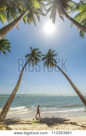 Phan Thiet beach on a sunny day