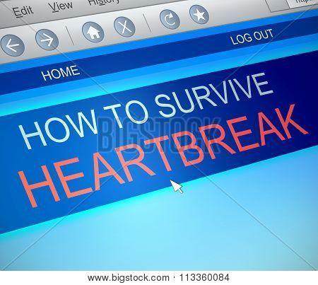 Surviving Heartbreak Concept.