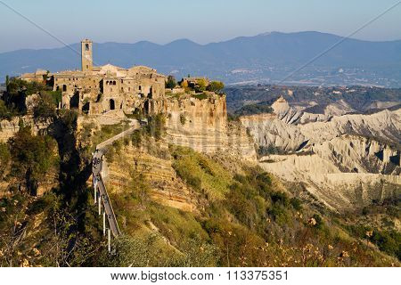 Badlands of Civita di Bagnoregio in Italy