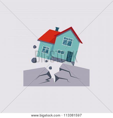 Earthquake Insurance Vector Illustartion