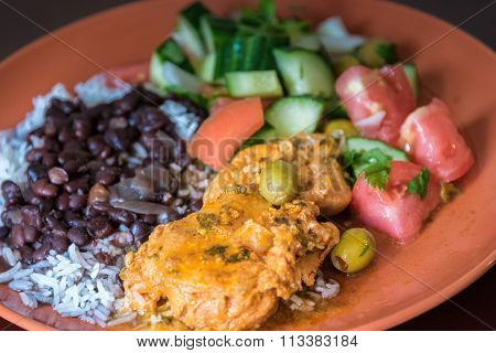 Cuban Cuisine: Traditional Plate or Dish