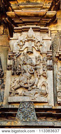 Matsya avatar of Lord Vishnu at Chennakesava temple at Belur captured on December 30th, 2015