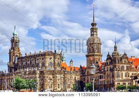 Dresden, Germany-september 08, 2015 :dresden Castle Or Royal Palace (german: Dresdner Residenzschlos