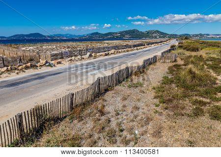 Route Du Sel On Giens Peninsula-hyeres,france