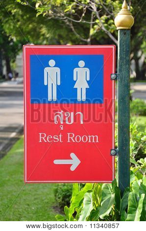 Rest Room Signs