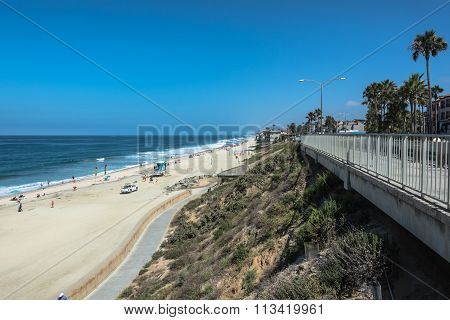 Carlsbad sand beach, California